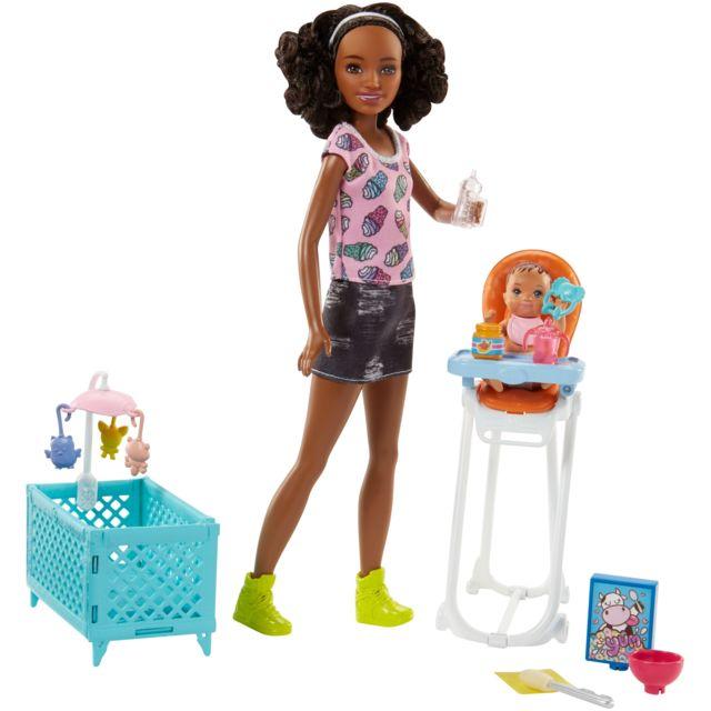 Haute Fhy99 Coffret Poupée Mannequin Babysitter Chaise 534AjLqR