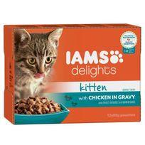 Iams - Delights Humide Poulet en sauce - Toutes Races - 12x85 g - Pour chaton