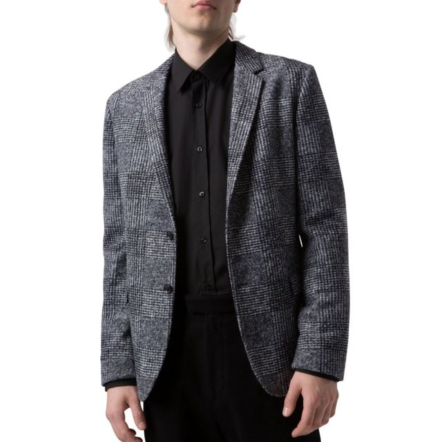 Hugo Boss - Veste blazer Arwido Anthracite - pas cher Achat   Vente Blouson  homme - RueDuCommerce ea37e8ff825a