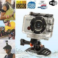 Yonis - Camera sport WiFi Full Hd 1080P étanche boitier waterproof argent