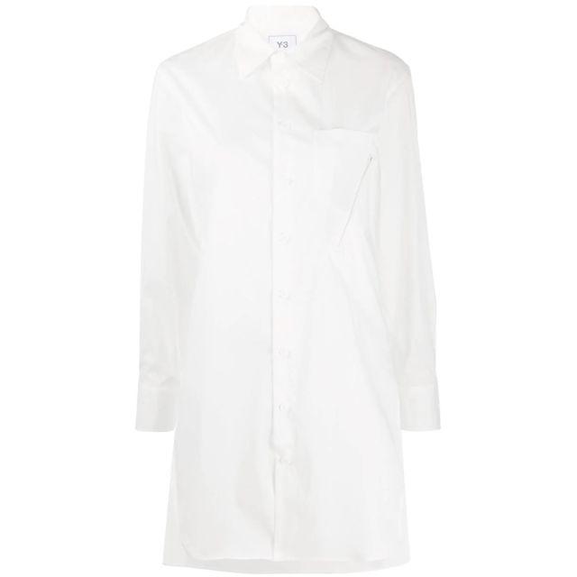 Adidas Y-3 Yohji Yamamoto Femme Fn3477 Blanc Coton Chemise