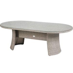 HESPERIDE - Table de jardin ovale en résine tressée Libertad 8 ...