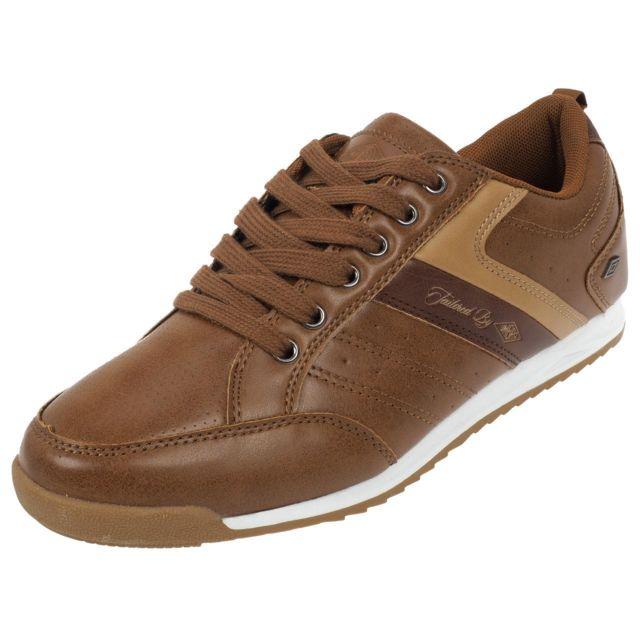 Umbro - Chaussures basses cuir ou simili Ecton camel h Marron 77579 45 -  pas cher Achat   Vente Baskets homme - RueDuCommerce 1064f0c490b1