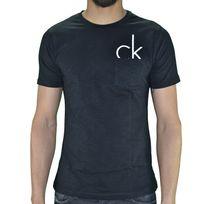 Calvin Klein - T Shirt Manches Courtes - Homme - Poche 300886 - Noir