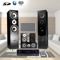 Hyundai - Home-Cinema 5 enceintes 850W, Ampli 2x50W + 3x20W