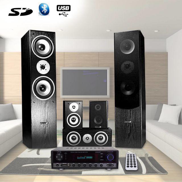 Hyundai Home-Cinema 5 enceintes 850W, Ampli 2x50W + 3x20W
