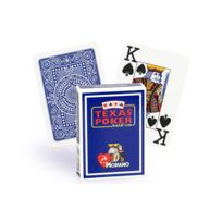 Modiano - Cartes Texas Poker 100% plastique bleu