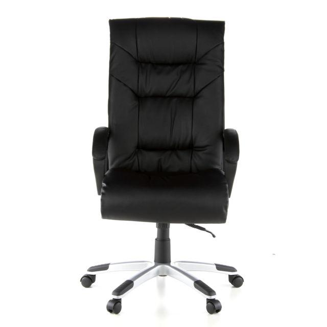 Hjh Office Siège de bureau / Fauteuil de direction President Soft, cuir noir