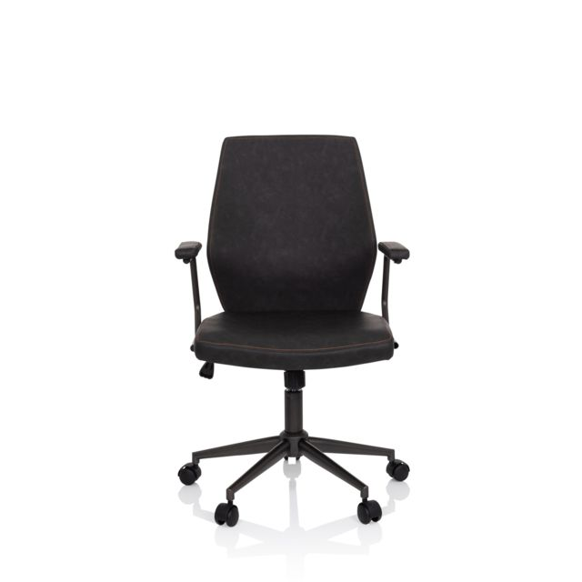 Hjh Office Chaise de bureau / Fauteuil de direction Theo Similicuir Anthracite