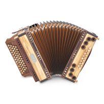 Loib - harmonica Ivd olive sol-do-fa-sib basses majeures X-basse boîtier en bois