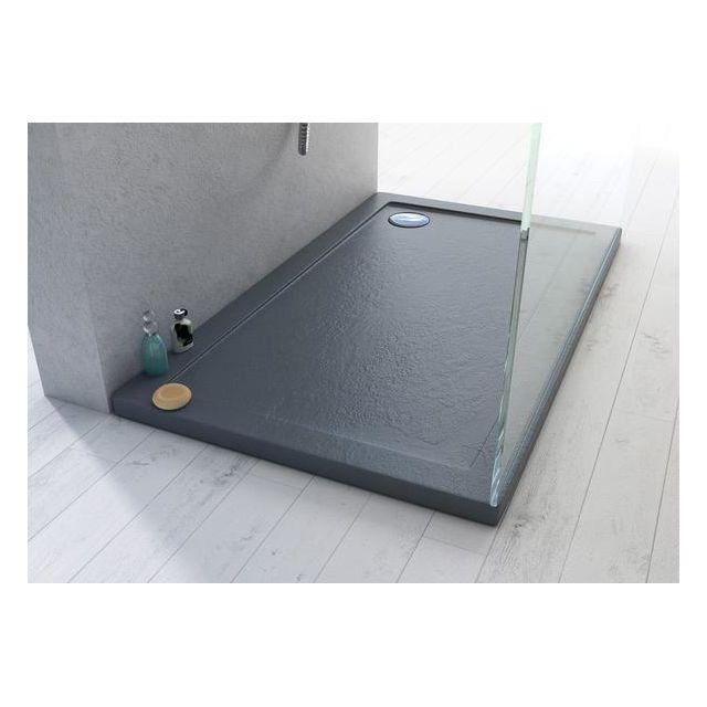 webmart receveur plateau bac douche acrylique 120x70 effet pierre pas cher achat vente. Black Bedroom Furniture Sets. Home Design Ideas