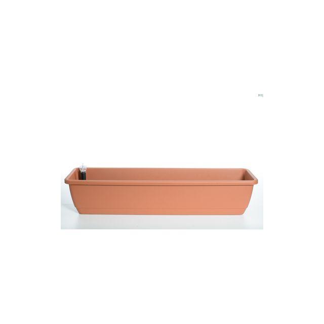 euro3plast jardini re avec r serve d 39 eau kalis 100 cm terre cuite mati re plastique pas cher. Black Bedroom Furniture Sets. Home Design Ideas