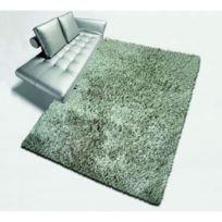 No Name - Lilou Tapis de salon Shaggy fil fin brillant 100% polyester- meches 40 mm- 60x110 cm taupe