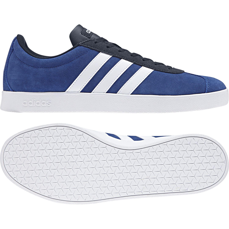 Adidas - Chaussures Vl Court 2.0 bleu roi/blanc/bleu marine - pas cher Achat / Vente Chaussures running