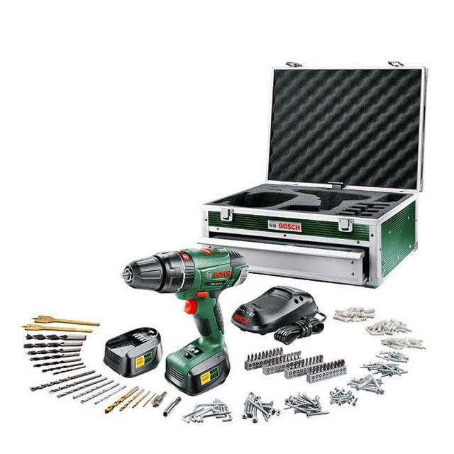 Bosch - Perceuse visseuse TOOLBOX PSB 18Vli-2 3X2,5Ah + 241 accessoires 060398230J