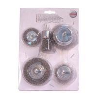 Smartool - Lot de 5 brosses pour perceuse ø 22-100 mm pour usage courant