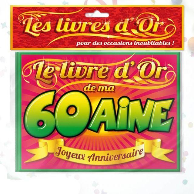 Kas Design Livre d'Or Anniversaire - Livre d'or anniversaire 60aine - Livre d'or anniversaire 60aine