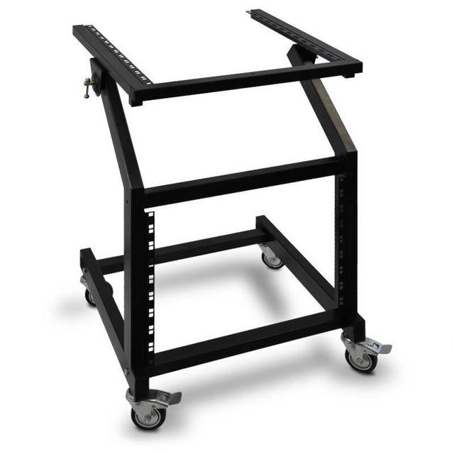 """Ibiza Sound - Rack Stand 48cm 19"""", 21U inclinable avec roulettes de sécurité Ibiza"""