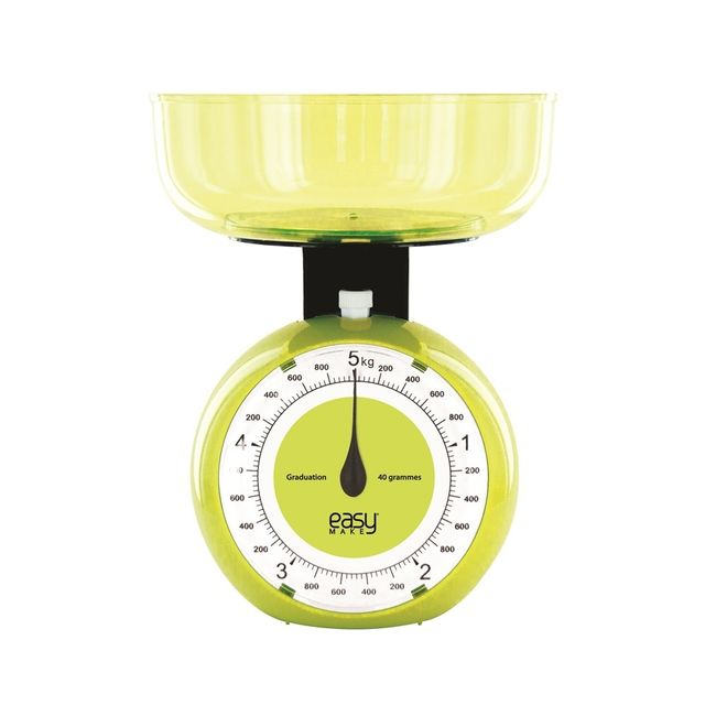 Easy Make Balance mécanique ronde 5 kg verte
