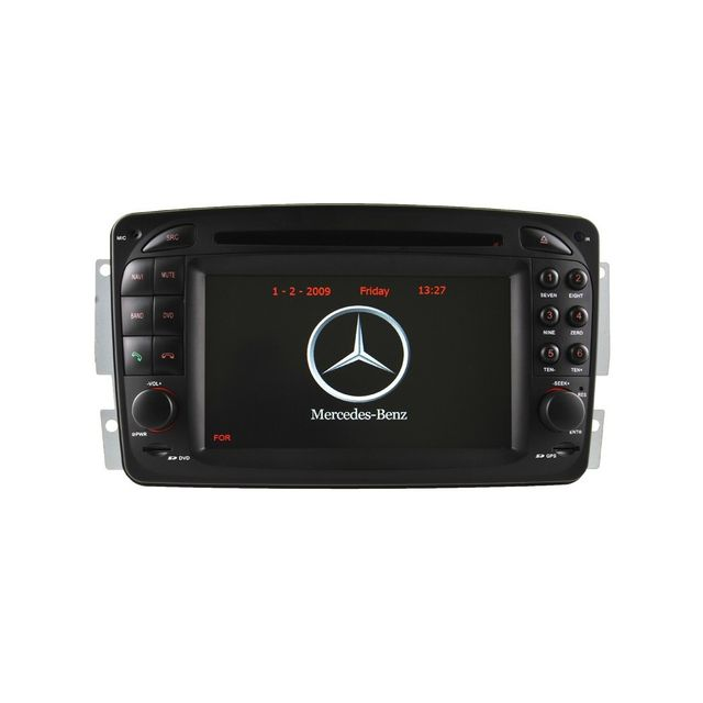 Auto-hightech Autoradio Gps Mercedes Mercedes Benz Classe A W168 Classe C W203 Classe E W210 Ml W163 Clk Slk W170 Classe G Viano Vito