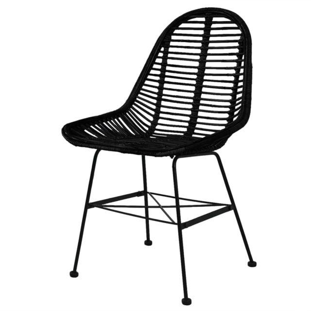 chaise de cuisine noire pas chere