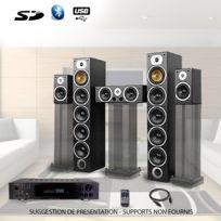 Beng - Ensemble Home-cinéma Hifi 1240W + ampli 360W V9B-BK+ATM8000BT + Cable