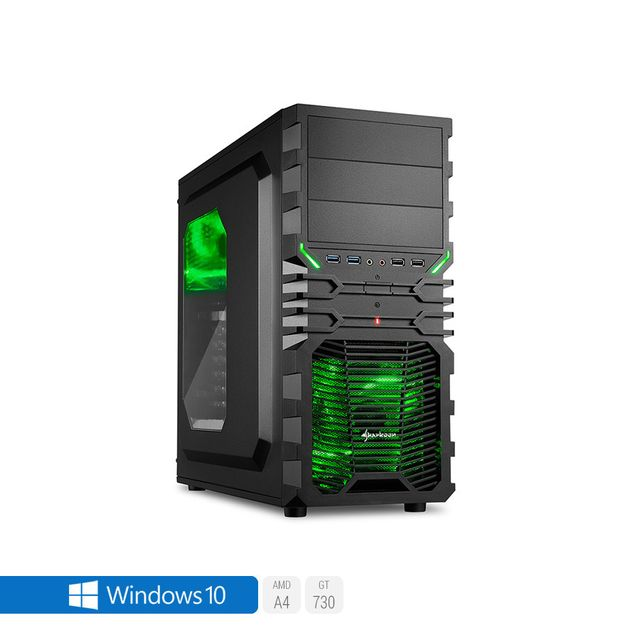 SEDATECH PC Gamer, AMD A4, GT730, 2To HDD, 8 Go RAM, Win 10. Ref: UCM6020I3I1HF