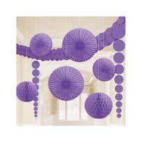 Amscan - Kit décorations lavande en papier x9