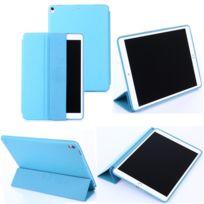Xeptio - Etui nouvel Apple iPad Pro 10.5 pouces Wifi - 4G/LTE 2017 / 2018 Smartcover pliable bleu clair Cuir Style avec stand - Housse coque de protection New Ipad Pro 10.5 pouces - Accessoires tablette pochette : Exceptional Smart case