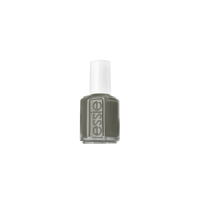 Essie - Vernis N 100 - Sew Psyched - kaki - Pinceau Francais Vert