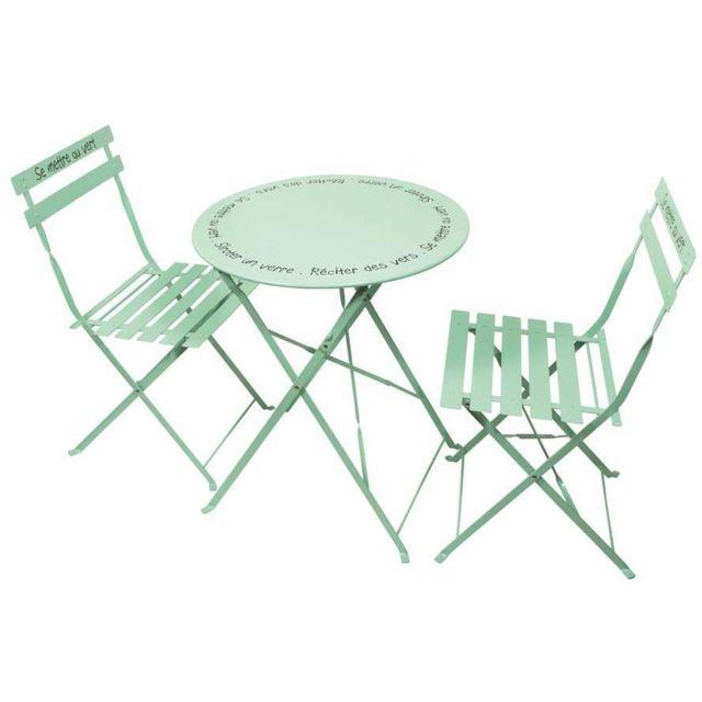 Table et chaises de jardin en métal Illustrations