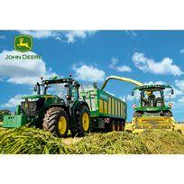 Schmidt - puzzle 100 pièces : John Deere Tracteurs ramasseur et hâcheur