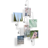 UMBRA - Portes photos fixations adhésives chrome Lot de 6