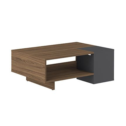 Table basse en noyer et anthracite - Aude