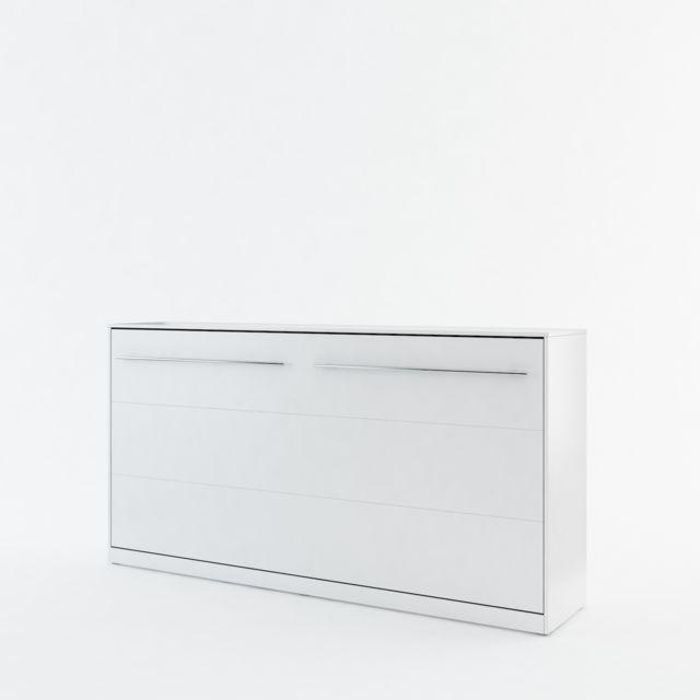 Openbed Lit escamotable Horizontal COSY, Blanc 140x200cm