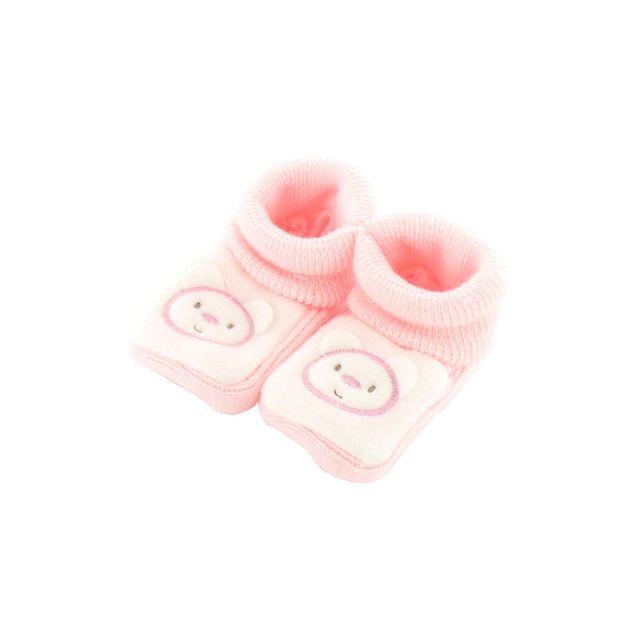 3c05d2254c147 Fruit De Ma Passion - Chaussons pour bébé 0 à 3 Mois rose et blanc - Motif  Maman Nounours - pas cher Achat   Vente Chaussures