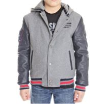 Redskins - Blouson Teddy Junior New Carty Gris / Marine