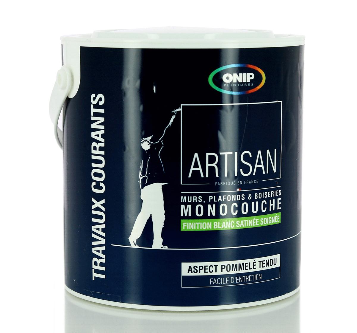 onip lot de peinture acrylique blanche monocouche. Black Bedroom Furniture Sets. Home Design Ideas