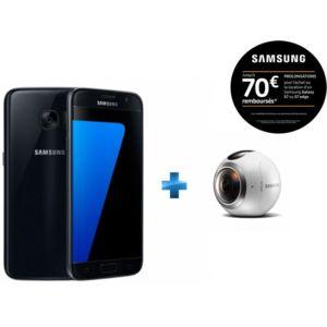Samsung - Galaxy s7 Noir + Camera Gear 360 pour Réalité Virtuelle
