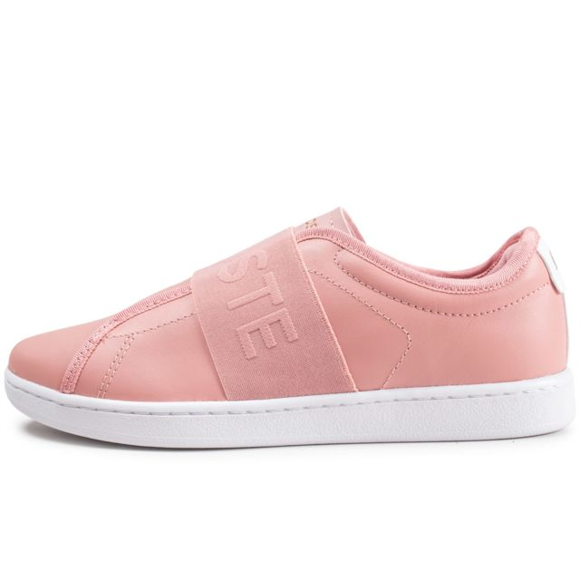 6431d48d29a Lacoste - Carnaby Evo Slip Rose - pas cher Achat   Vente Baskets ...