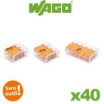 Wago - Blister panaché de 40 bornes de connexion automatique 2,3 et 5 entrées S221