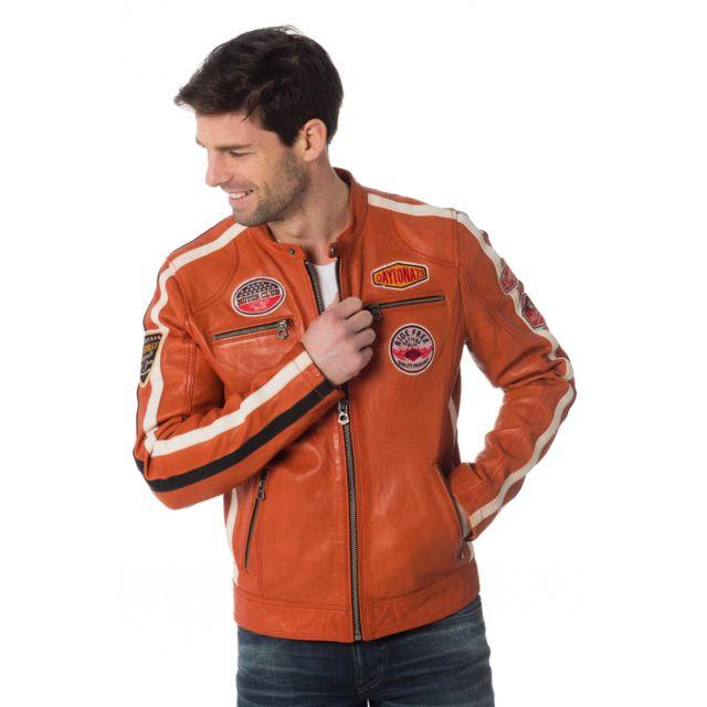 Daytona - Oliver Sheep Atlas Veg Burnt Orange - pas cher Achat   Vente  Blouson homme - RueDuCommerce 1378336fb093