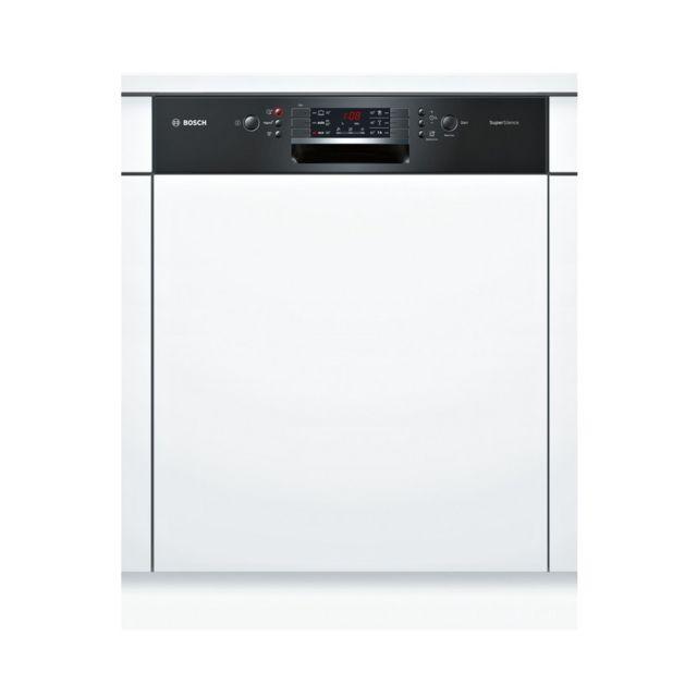 Bosch lave-vaisselle 60cm 13c 42db a++ intégrable avec bandeau noir - smi46ib15e