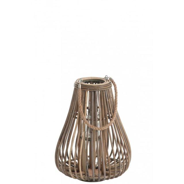 Jolipa - Lanterne Poire en Rotin naturel H42 cm