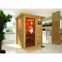 Karibu - Sauna Traditionnel Nadja 38 mm avec Couronne 172 x 158 x 205 cm Plug and Play