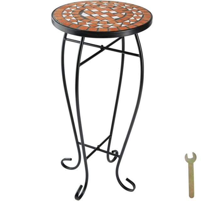 TECTAKE - Table de Jardin, d\'Appoint, de Balcon, de Bistrot, Table ...