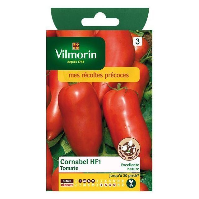 vilmorin sachet graines tomate cornabel hf1 pas cher. Black Bedroom Furniture Sets. Home Design Ideas