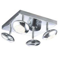 Esto Lighting - Applique 4 spots Ufo Led - 26 x 26 cm - Metal chromé