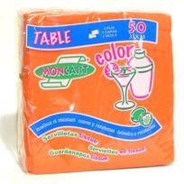 Tersol - Serviettes papier x 50 de 33x33 cm Orange