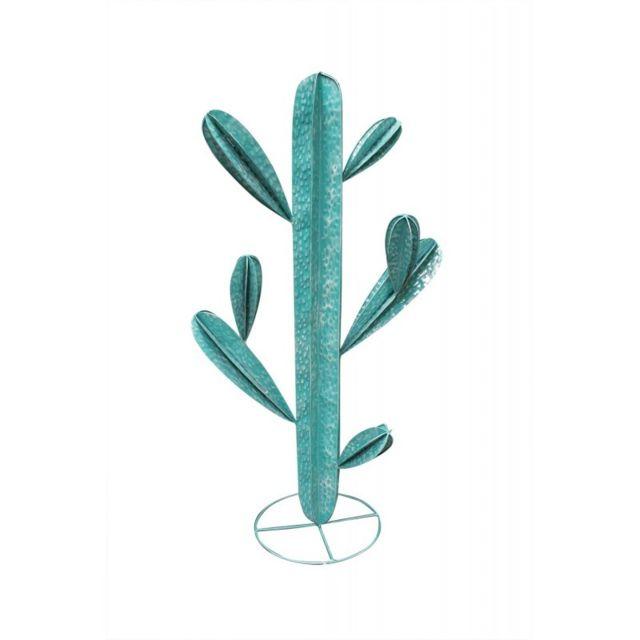 Meubletmoi Cactus 110 cm en métal Vert - Cactus /L
